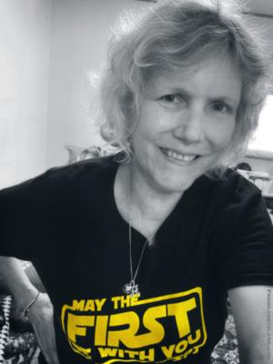 social distancing selfie, Ann Parry, 2020